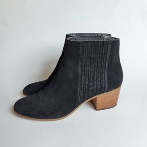 Dolce Vita black suede ankle booties size 10
